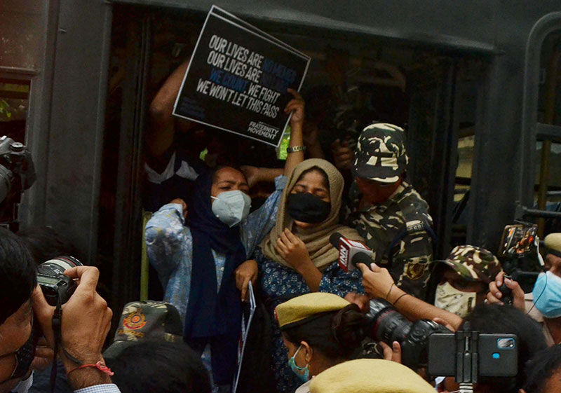Protest against eviction drive in Assam's Dholpur
