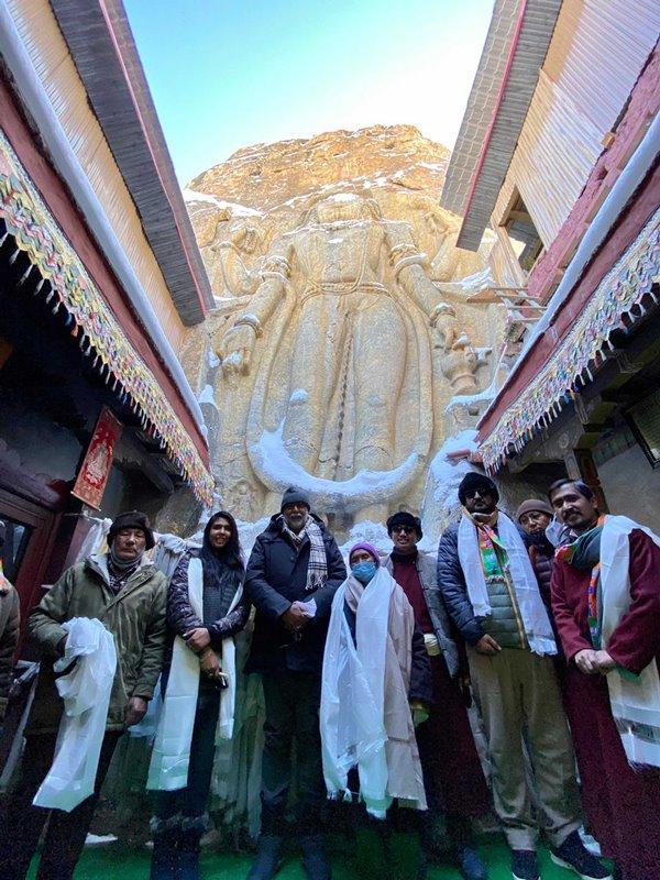 Prahlad Patel visits Mulbekh Monastery in Kargil