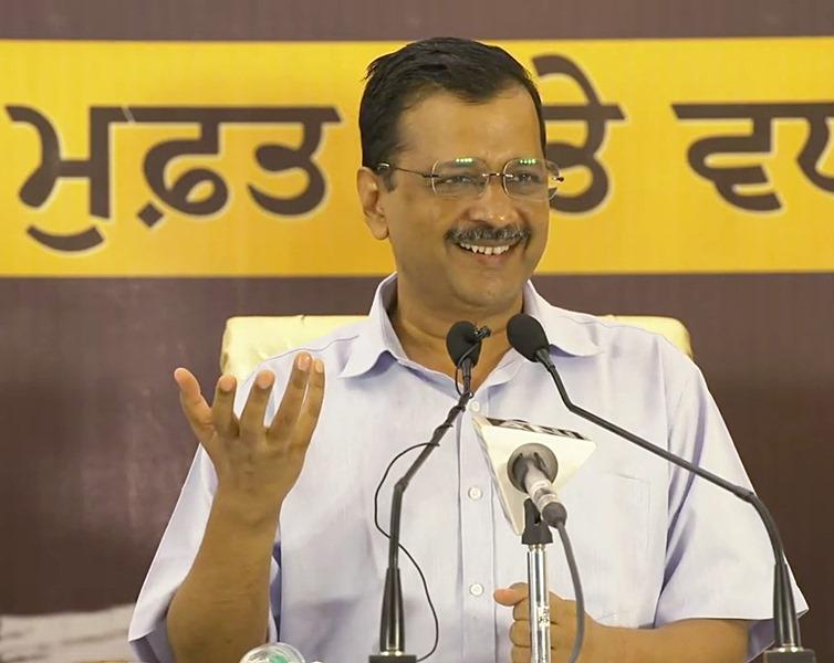 Arvind Kejriwal addresses press conference in Punjab