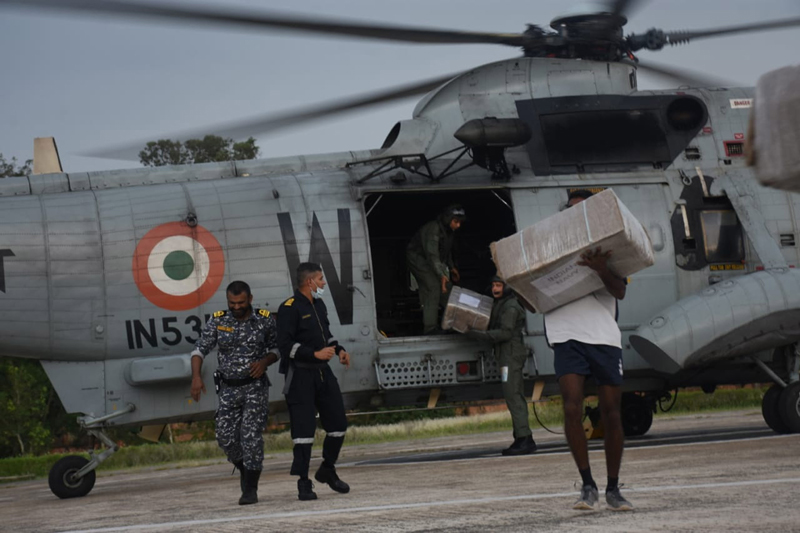 Indian Navy continues relief operations at Cyclone affected areas in Balasore
