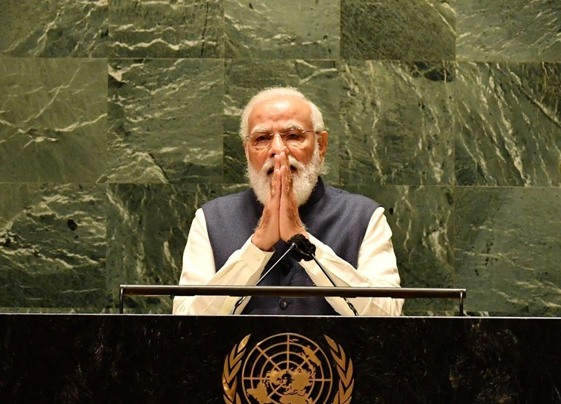 PM Modi addressing 76th session of United Nations General Assembly in New York