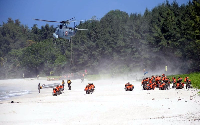 Indian Armed Forces' joint military exercise in Andaman