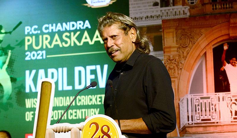 P.C. Chandra Group felicitates Kapil Dev in Kolkata