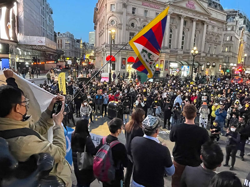 Protests against Chinese Communist Party in London