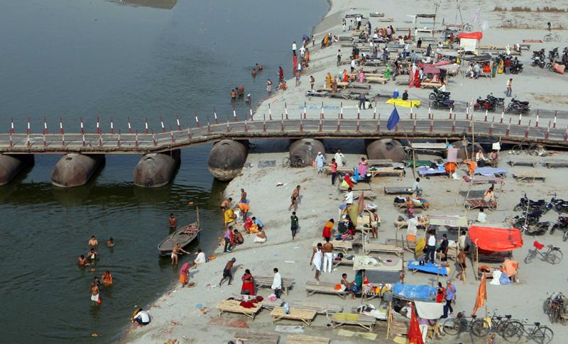 Purnima festival amid Covid in Prayagraj