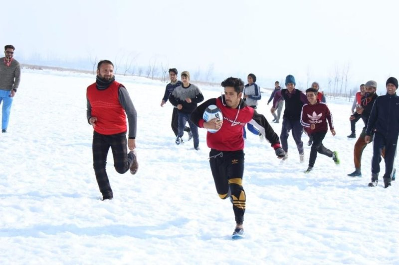 Snow Rugby in Kashmir