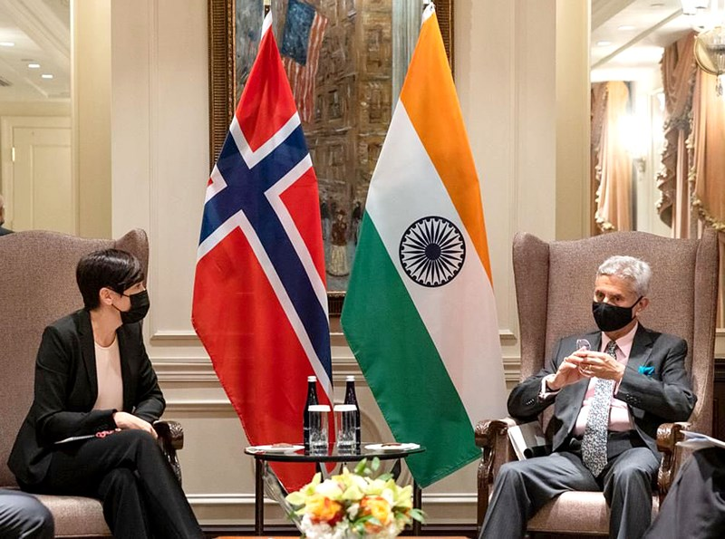 S Jaishankar meets Norway Foreign Minister in US