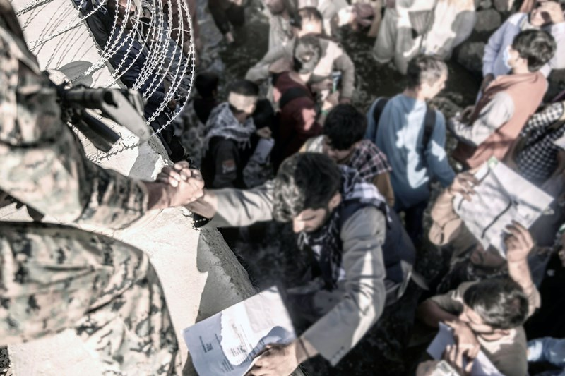 Afghanistan: Evacuation at Kabul Airport