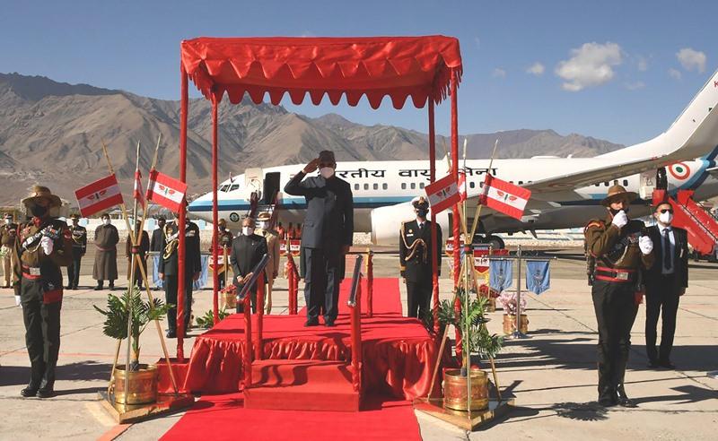 President Ram Nath Kovind welcomed in Ladakh