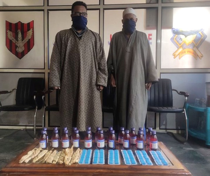Drug peddlers arrested by in Kashmir