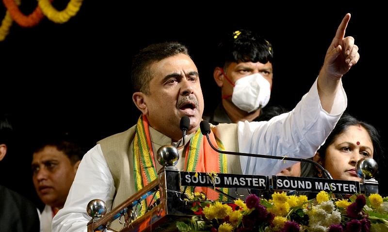 In Images: BJP leader Suvendu Adhikari's mega roadshow in Kolkata