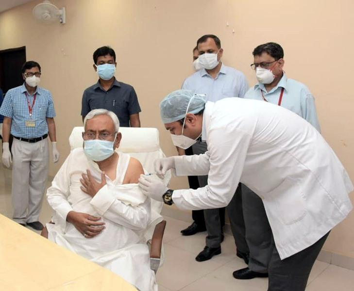 Bihar CM Nitish Kumar gets second Covid-19 vaccine dose