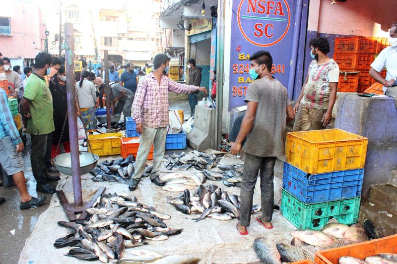 Secunderabad: People buying fish on eve of Mrigasira Karthi Festival