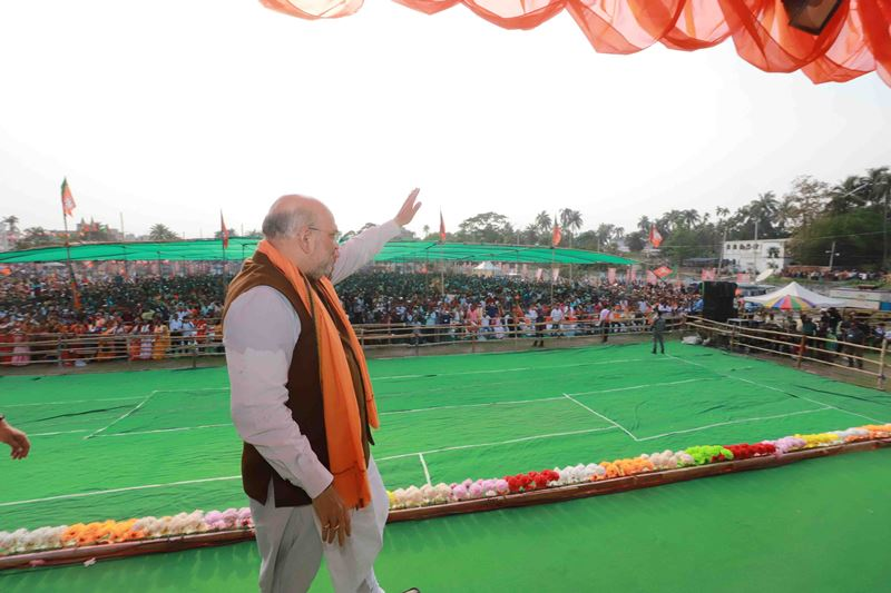 Amit Shah campaigns for BJP in Bengal