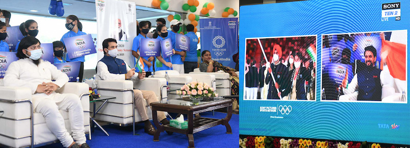 India cheers for her Olympic contingent from New Delhi