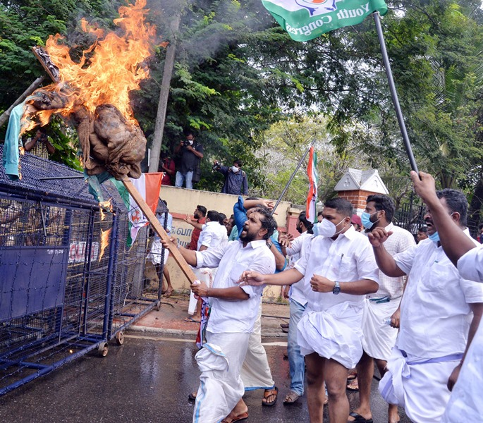 Congress protests in Kerala
