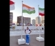Indian Womens Hockey Team Captain, Rani Rampal poses with tricolour in Tokyo Olympic Games Village