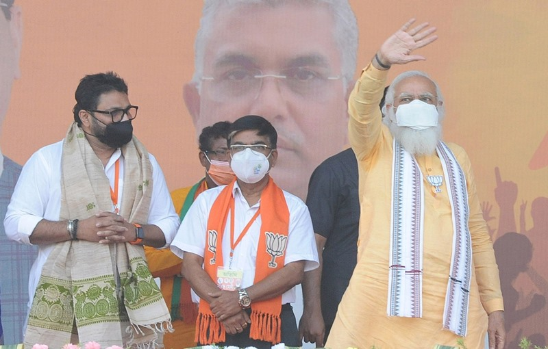 Modi, Yogi campaign for BJP in Bengal
