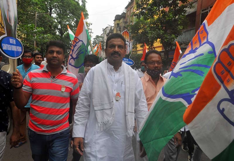 Sanjukta Morcha campaigns in Kolkata
