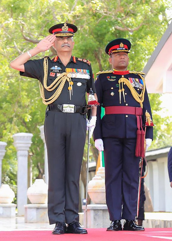 General MM Naravane planting sapling during Gajaba Day Celebrations in Sri Lanka