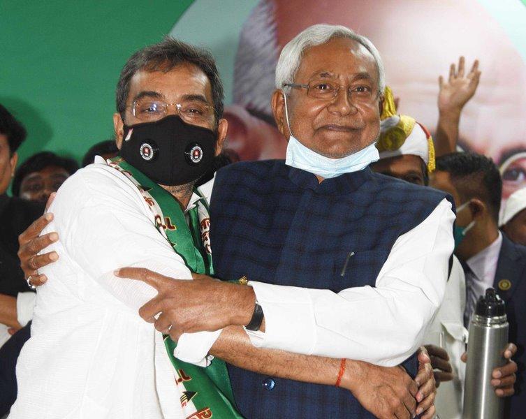 Nitish Kumar addressing political parties