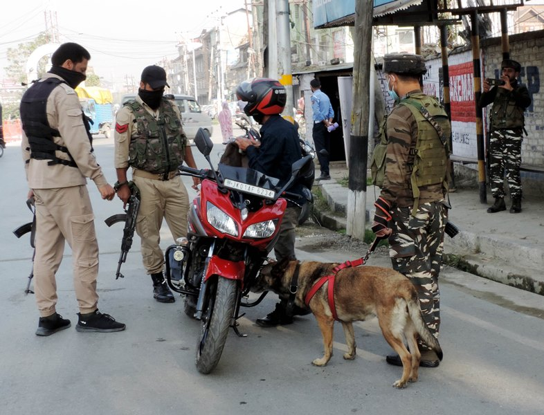 J&K: Security forces checking people after recent killings in Srinagar