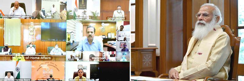 PM Modi chairs meeting over Cyclone Yaas