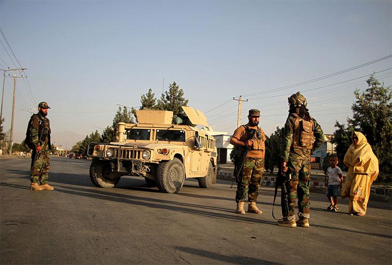 Taliban fighters patrol Kabul streets