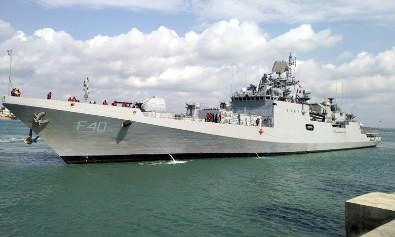 Indian Navys INS Talwar reaches Mombasa