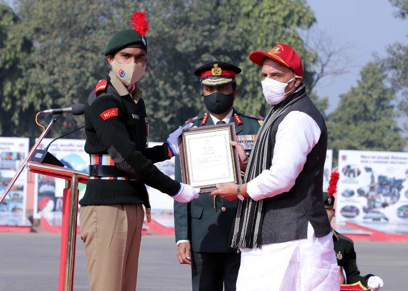 Rajnath Singh addresses NCC cadets at NCC Republic Day Parade Camp