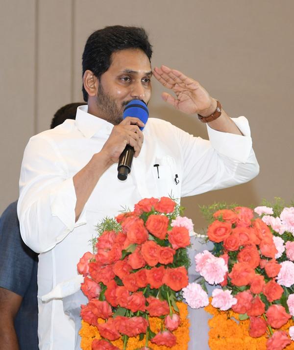 Andhra CM Jagan Mohan Reddy presents Visishta Puraskar Seva Awards