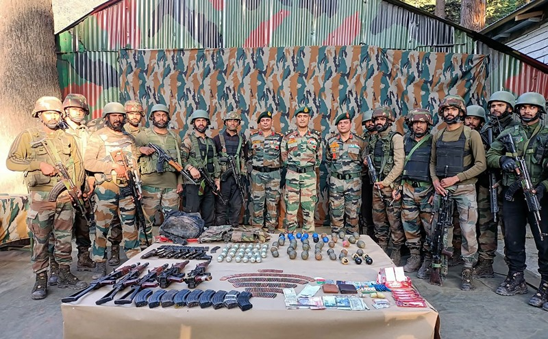 Indian army recover huge cache of arms and ammunition in Srinagar