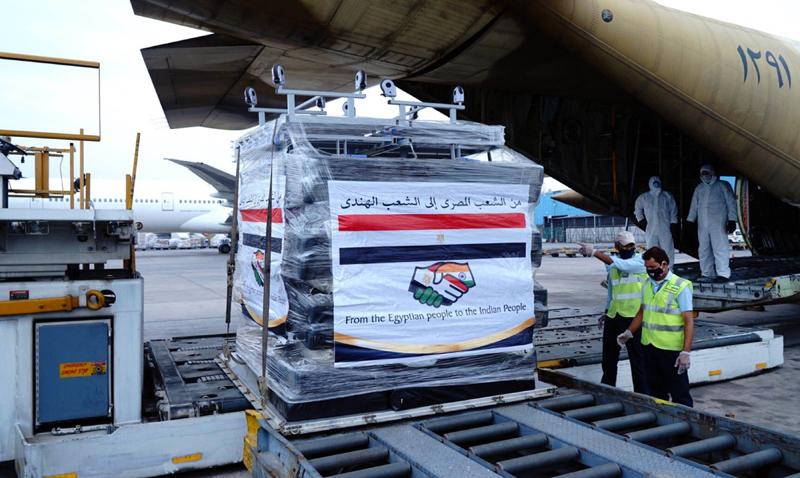 Shipment of medical equipment reach Delhi from Egypt