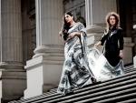Vidya Balan shoots for Oz designers