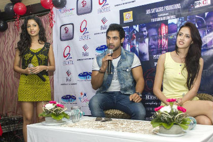 Actor Mohammad Nazim promotes his upcoming film in Kolkata