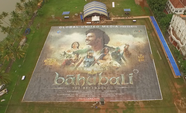 Baahubali creates world record with world's biggest poster