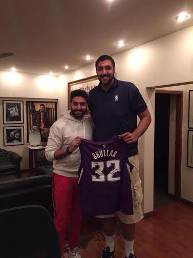 Abhishek Bachchan meets NBA's 'Little' guy