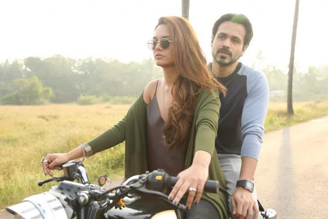 Esha Gupta takes Emraan Hashmi for a bike ride