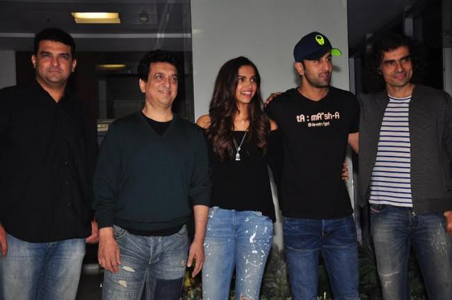 Tamasha team indulges in in shot wrap up party