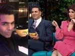 Twinkle Khanna makes her debut on Koffee with Karan with hubby Akshay Kumar