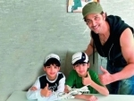 Hrithik on a trip to Africa with Hrehaan and Hridhaan