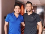 Bhushan Kumar bonds with Dhoni over music
