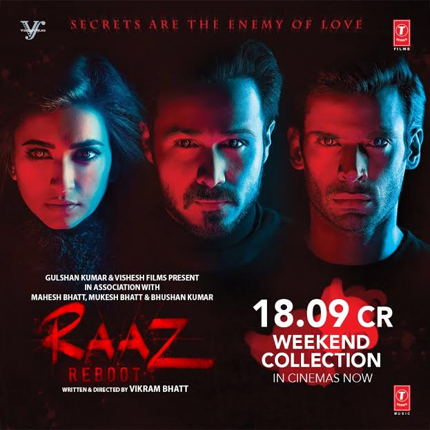 Raaz Reboot scores 18.09 cr over the weekend