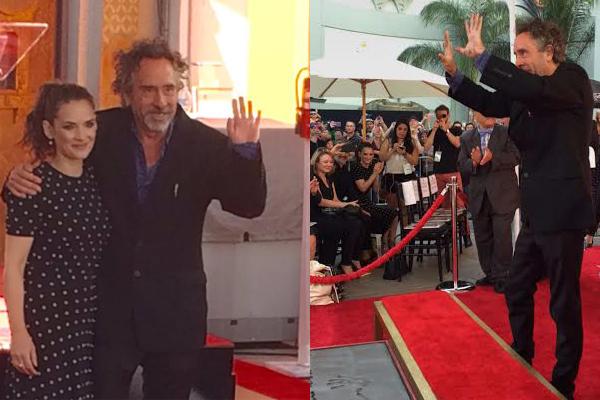 Director Tim Burton honoured at Hollywood Walk of Fame