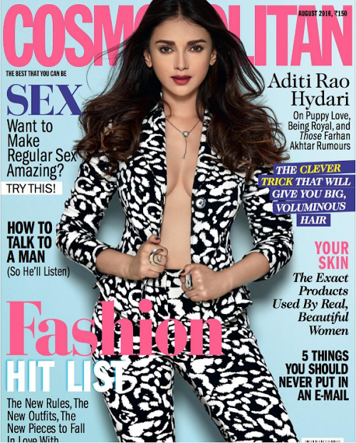 Aditi Rao Hydari features in Cosmopolitan Magazine cover