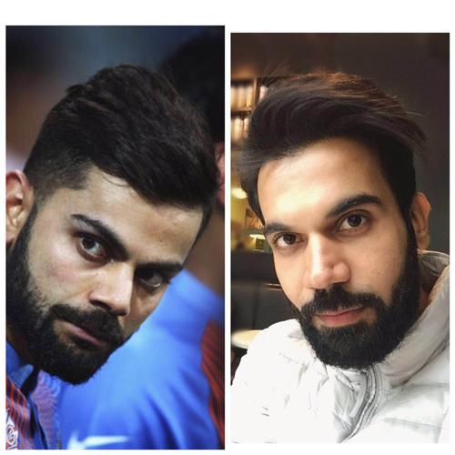 Rajkumar looks like Virat Kohli in this look