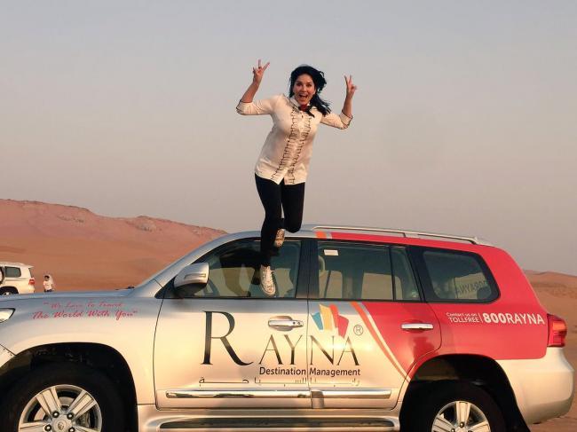 Sunny Leone enjoys her Dubai trip