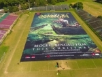 SVF unveils biggest film poster for a Bengali film - Amazon Obhijaan