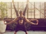 Bipasha Basu, Karan Singh Grover perform yoga together