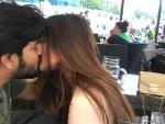 Riya Sen kisses husband Shivam, shares romantic image on social media